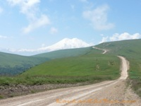 way to north Elbrus