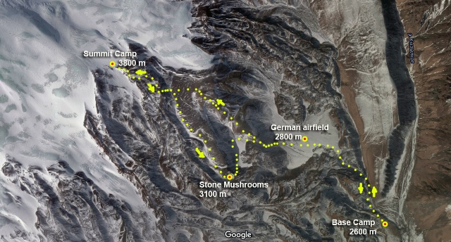 Stone mushrooms north Elbrus