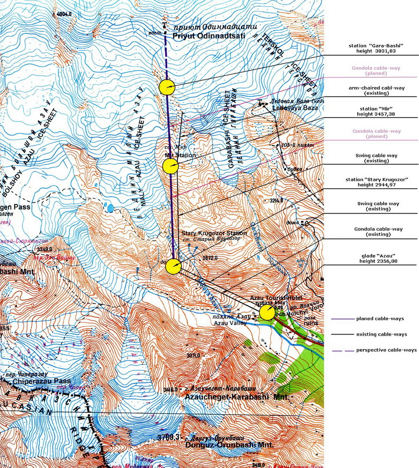 Maps - Mt elbrus map