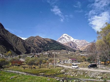 Kazbek from Stepantsminda