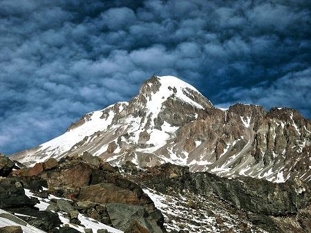 Kazbek from glacier Gergeti