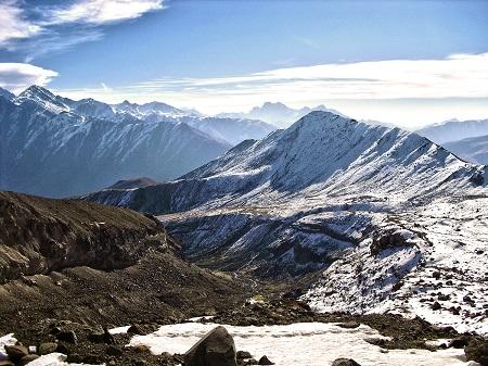 from glacier Gergeti