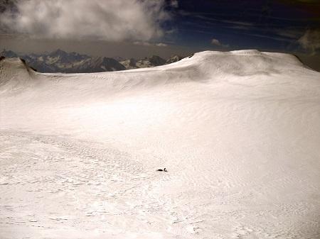 Kazbek ice plato 4300 m