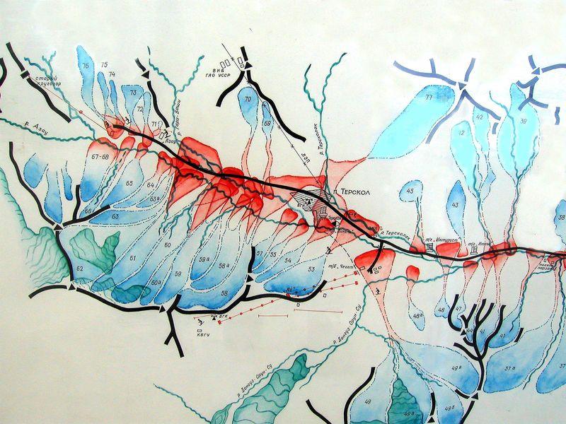 Схема лавиной опасности